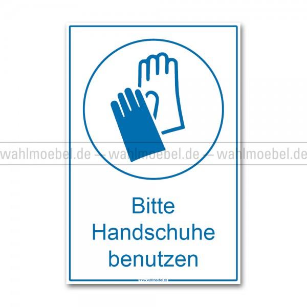 Aufkleber - Handschuhe benutzen