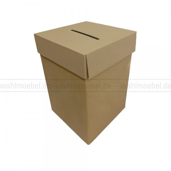 Wahlurne aus Wellpappe 50 cm hoch