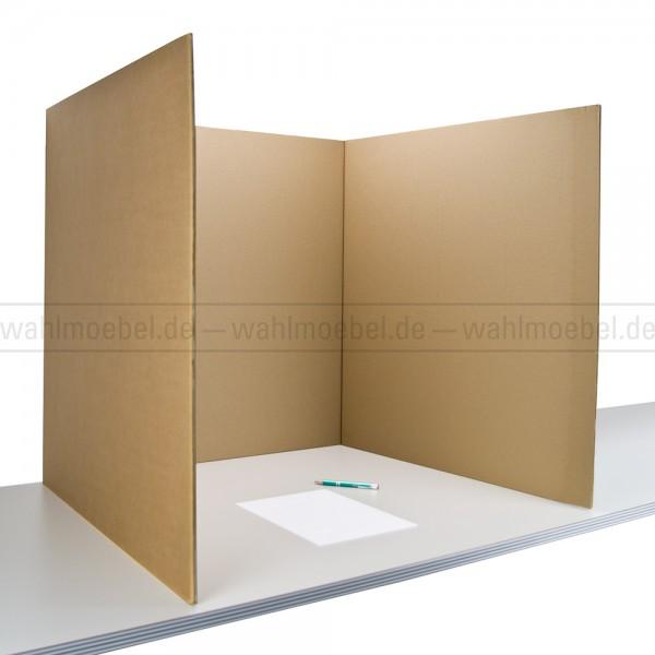 Tisch-Wahlkabine 70 aus Wellpappe