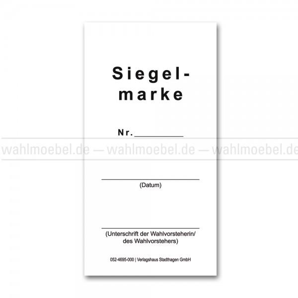 Siegelmarke für Wahlurnen