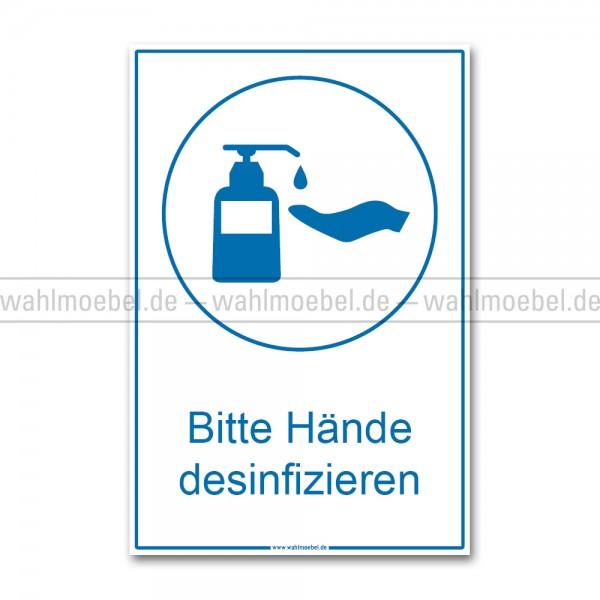 Hinweisplakat - Hände desinfizieren