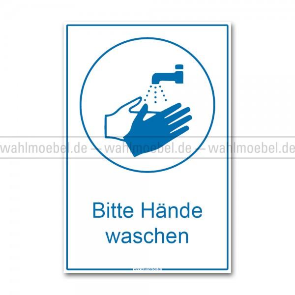Aufkleber - Hände waschen